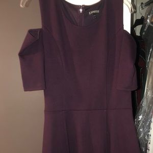 Express dark purple skater style dress!
